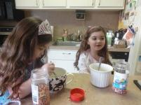 Children Mixing Up Sprinkle Pancakes