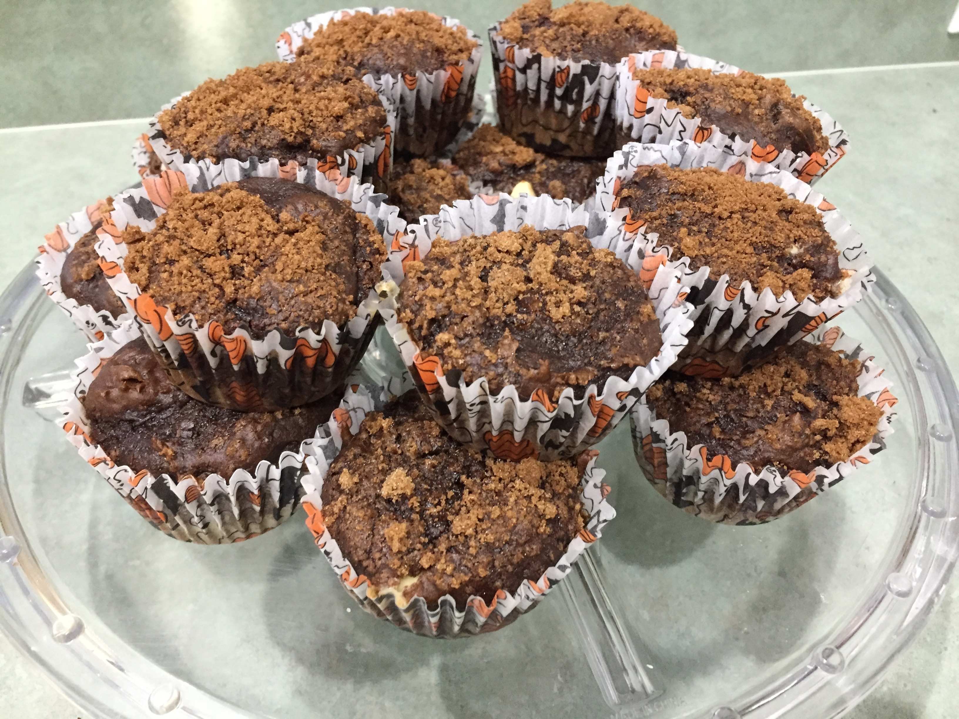 Chocolate Pumpkin Cinnamon Muffins