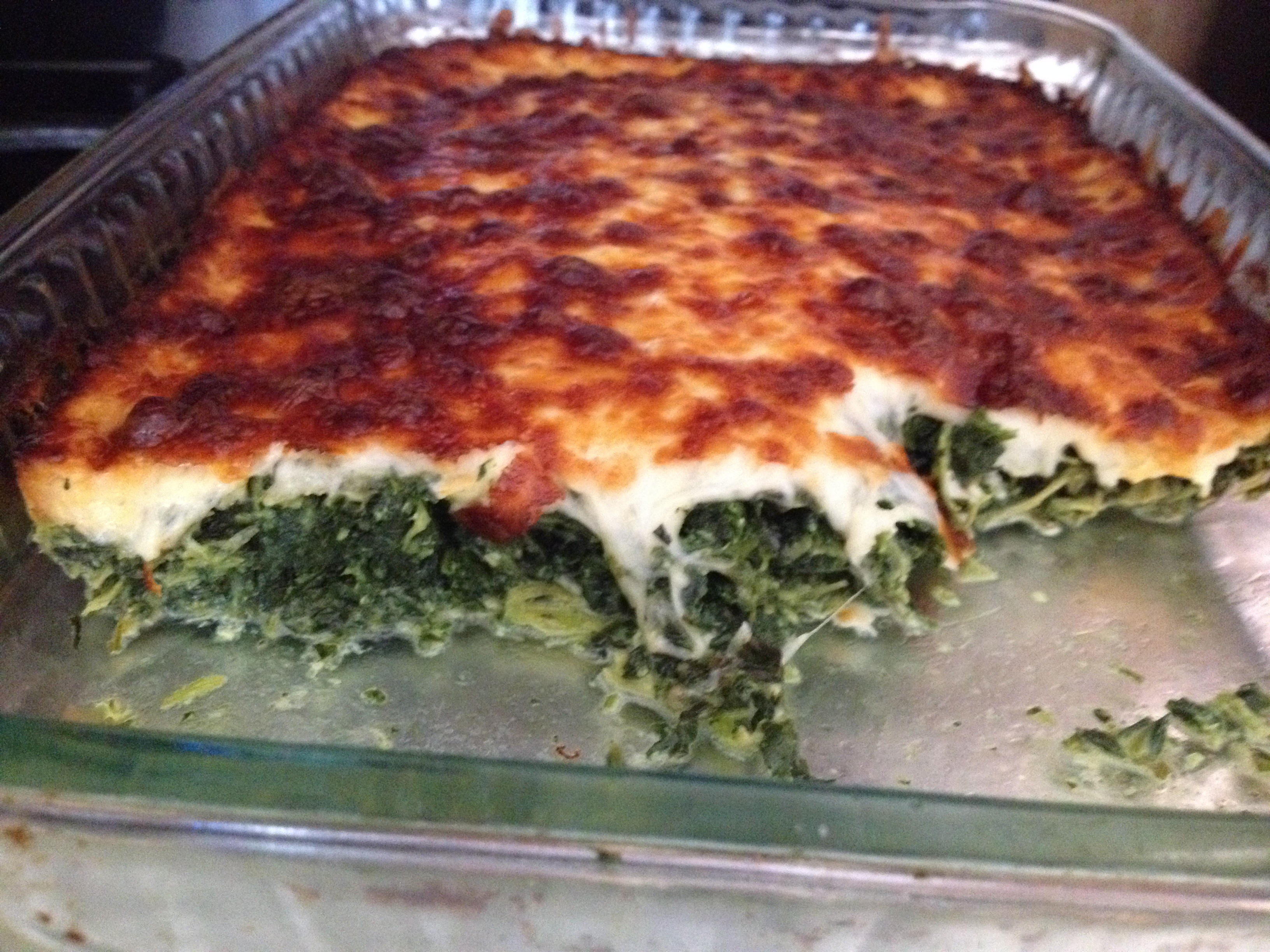 Cheesy Spinach Pie