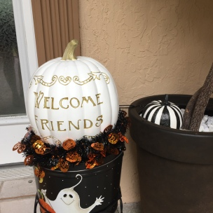 Fall Theme Halloween Welcome Friends