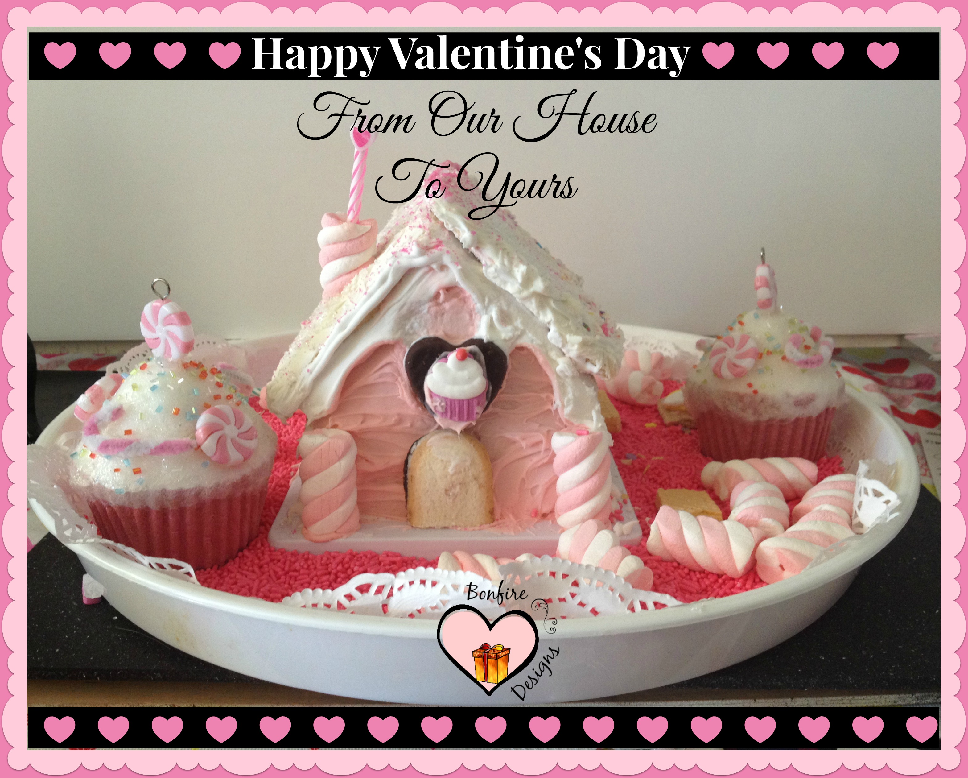 Valentine's Day Cookie House