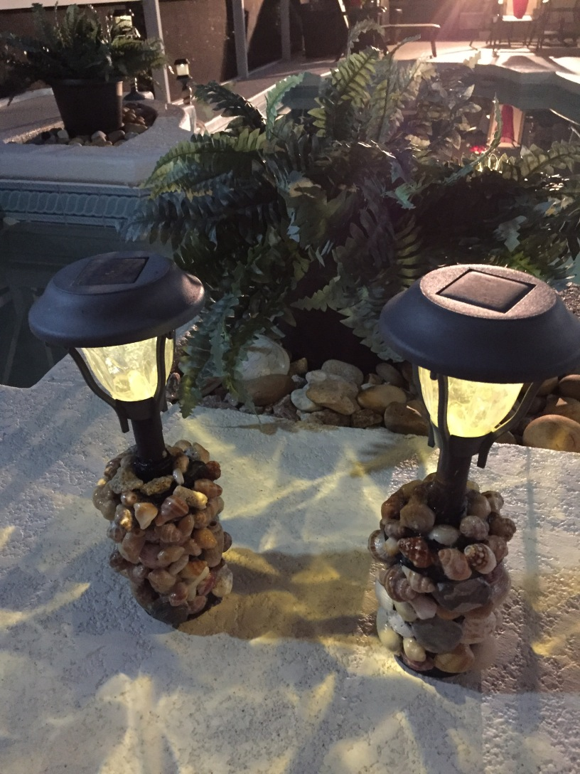 Seashell Solar Lights Hand Picked and Home Made DIY